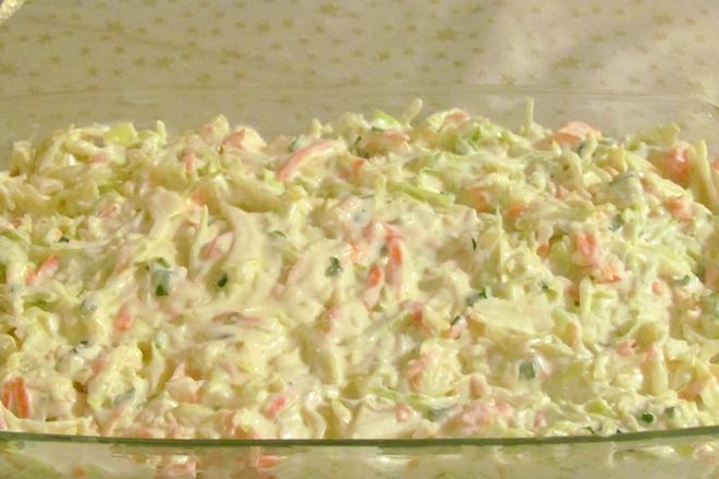 Beyaz Lahana Salatası Yapımı 1